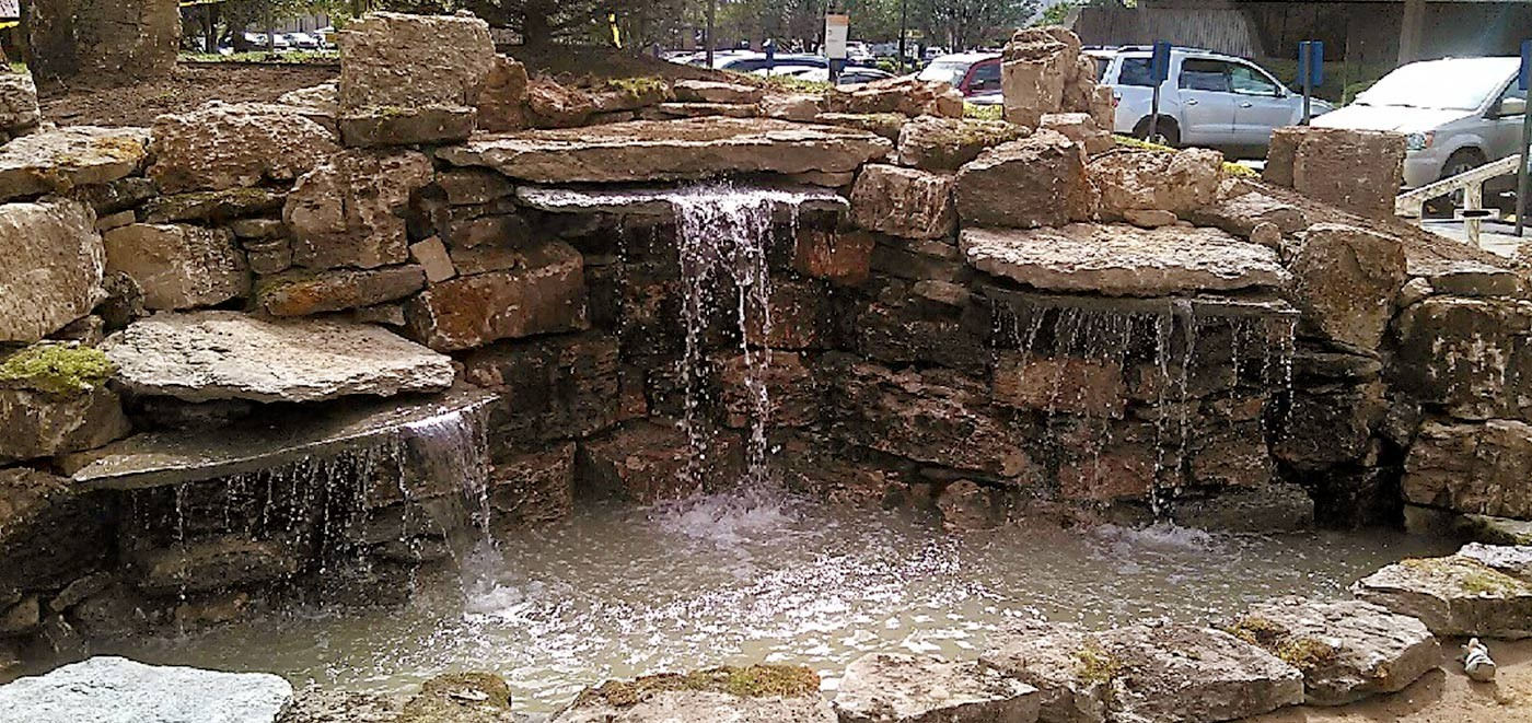 Crane hardscape supply stone supply for Rock waterfall