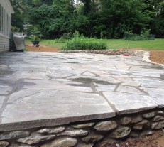 giant stone patio