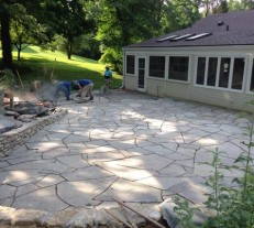 giant stone patio flag stone