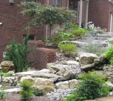 hardscaping rock retaining wall