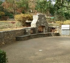 stone for outdoor kitchen