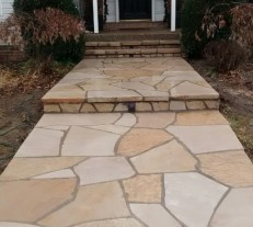 stone walk way leading to front door